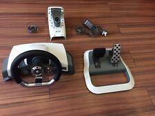 Official Microsoft Xbox 360 Steering Wheel and Pedals and Power Lead! Free P&P!