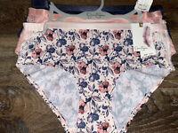 Jessica Simpson ~ Women's Brief Underwear Panties Polyester Blend 3-Pair ~ M