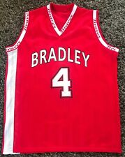 Bradley University Braves Ncaa Red Basketball Jersey #4 Bu Rob Dye Mvc Kaboom!