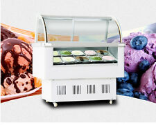 Ice Cream Refrigeration & Showcase Machine 12 Pan Gelato Ice Cream Display Case