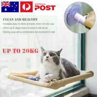 Up 20KGS Cat Bed Basking Window Hammock Perch Cushion Hanging Shelf Seat Pet