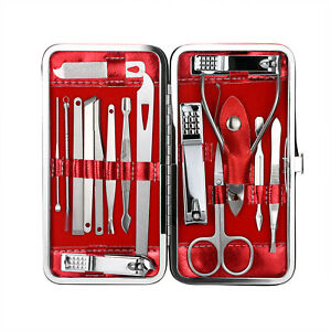 16pcs Manicure Set Pedicure Tools Nail Clippers Kit Professional Stainless Steel
