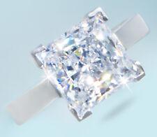5 ct Princess Ring Top Russian Quality CZ Imitation Moissanite Handmade Sz 10