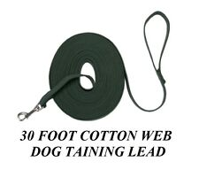 Pet Supplies PREMIUM DOG TRAINING LEAD COTTON Web Webbing 30 Foot TRAINER Leash