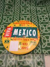 Dos Equis Viva Mexico Independence Day Sauza Pin Button FREE SHIPPING
