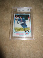 Peter Stastny 1981-82 Topps Rookie Card RC #39 graded grade BGS 7.5 NrMt PSA SGC