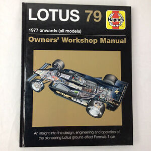 Haynes Lotus 79 1977 Onwards Owners Workshop Manual Hardback Book
