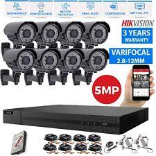 Hikvision CCTV HD 1960P Dvr 5MP 70M Kit de sistema de seguridad para el Hogar Cámara Varifocal