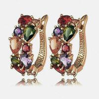 Elegante Dame Strass Ohrstecker Clip Ohrringe Modeschmuck Heißer Verkauf