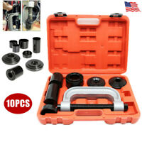 10Pc Heavy Duty Ball Joint Press & U Joint Removal Tool Kit w/ Adapters and Case