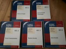 SANS SEC401 Security Essentials Bootcamp Style Courseware Books 2-6