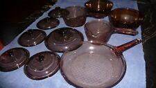 Corning Visions Rangetop Cookware - Amber, 11 Piece Set (2 bowls Anchor Hocking)