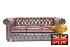 Canapé Original Chesterfield Antique Brun 3 places