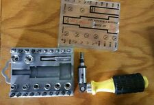 32 pc Reversible Ratchet Driver with Bits New