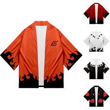 NARUTO0 Japanese Kimono Mens Women T-shirt Cotton Crew Neck Short Sleeve Summer