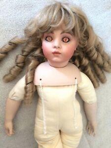 Vintage VERNON SEELEY Porcelain Bisque Doll 1980 Lindemann Made in Germany