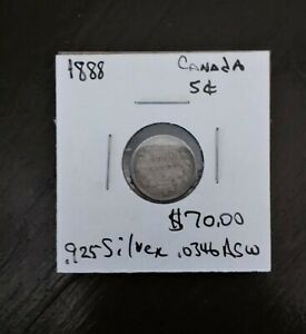 1888 its 925 Silver Canada Nickel coin list for $70.00 FREE S/H