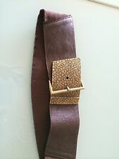 Nwt Stretch Belts from Streets Ahead Size Large Brown W Gold Meteal Buckel