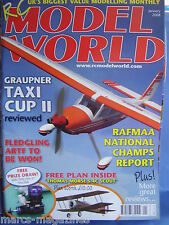RCMW RC MODEL WORLD JANUARY 2008 THOMAS MORSE SCOUT S 4C PLAN RAFMAA TAXI CUP II