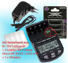 4xEneloop XX + Technoline BC 700 cargador inteligente 9 in 1 Funciones+ caja
