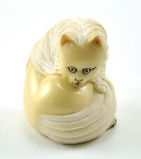 Vintage Chinese Japanese Cat Kitty Resin Figurine NETSUKE NEW 1.75""