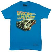 Back To The Future Logo With Delorean Licensed Adult T Shirt