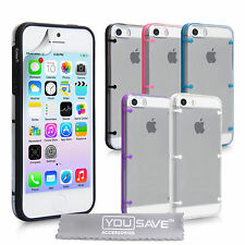 Accessories For The New Apple iPhone 5S Clear Hard Tough Case Cover & Film UK