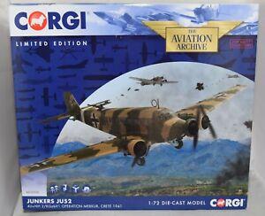 CORGI AVIATION ARCHIVE AA36908 JUNKERS JU52 OPERATION MERKUR 1941 1:72 LTD ED