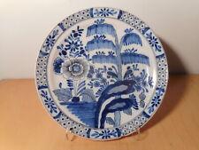 Assiette ancienne faience Pays Bas Delft 18 19 siècle marque AK Adriaen Kocks ?