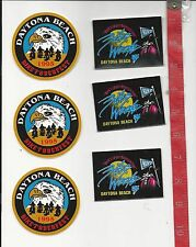 6 1995 Daytona Beach stickers two different motorcycle rat rod FREE SHIPPING
