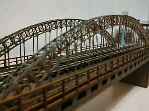 Modelux N Gauge 2 Road Arch Suspension Bridge KIT - Steel Grey