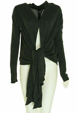 DKNY Women's Draped Open Front Cardigan Sweater Charcoal Gray Size XS/Small