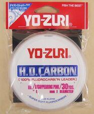 Yo-Zuri Pink 100% Fluorocarbon Leader Line 30yd 50lb HD50LB-DP Striper R893-DP