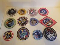 """LOT of 12-Space Shuttle Recovery """"NASA"""" Space Patchs (4)"""