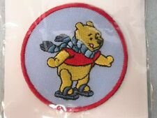 Disney Pooh Winter Skate  Embroidered Applique Patch