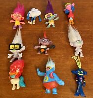 2020 McDonald's TROLLS World Tour Happy Meal Toys Complete Set (1-10) ~ Loose