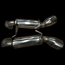 Malian Exhausts MAL098 Performance Exhaust Backboxes for Nissan 370z 3.7 V6 Dual 4.5 inch Tailpipes