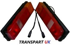 PAIR TRANSIT TIPPER PICKUP TRUCK RECOVERY LUTON REAR TAIL LIGHT LAMP COMPLETE