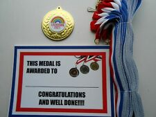 LOCKDOWN 2021 MEDALS - 50MM METAL - WITH RIBBONS AND CERTIFICATES 1 ONLY