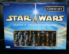 Star Wars Attack of the Clones AOTC Chess Set MINT w/Board & Instructions HEAVY!