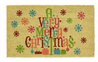 """Mohawk Home Very Merry Christmas 18"""" x 30"""" Coir Door Mat"""
