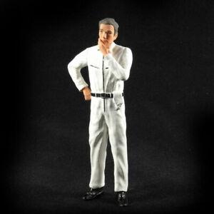 Mechaniker nachdenklich weisser Overall Figur 1:18 Figurenmanufaktur