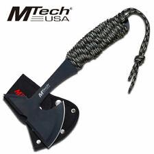 MT-600CA M-TECH USA TACTICAL CAMPING AXE W/ CAMO CORD WRAPPED SS HANDLE + SHEATH