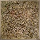 48 x 48 Original Modern Abstract Expressionism Drip Painting - by Carmen Rowe