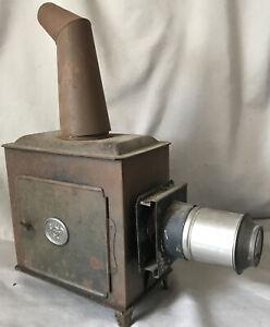 Antique Magic Lantern Ernst Plank German E.P. Glass Slide Projector