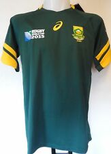 SOUTH AFRICA BOYS RWC 2015 S/S HOME JERSEY BY ASICS  SIZE 9/10 YEARS BRAND NEW