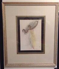 African American Black Woman Dancing Pencil Watercolor Artwork Picture Signed!