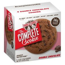 NEW LENNY & LARRY'S THE COMPLETE COOKIE DOUBLE CHOCOLATE 4 COOKIES 16 OZ BOX