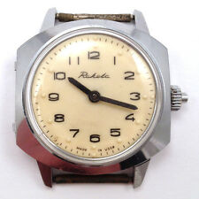 Vintage Soviet RAKETA Braille Dial, for Blind, Chromed case, USSR / CCCP #502