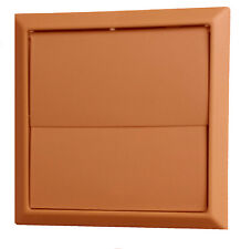 100mm terracotta gravity outlet 2 flap style vent for tumble dryer/extractor fan